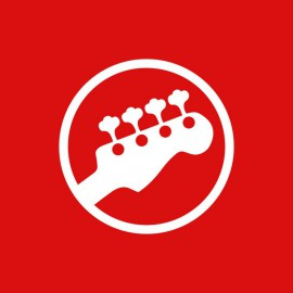 Tee shirt guitare symbole rouge
