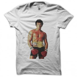 Tee shirt Rocky ready to boxe blanc