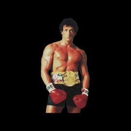 Tee shirt Rocky ready to boxe noir