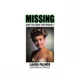 Tee shirt Twin Peaks missing Laura Palmer blanc