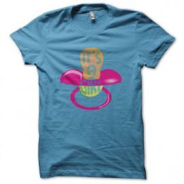 Tee shirt Baby pacifier It's a Girl bleu turquoise