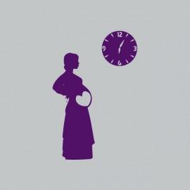 Tee shirt femme enceinte horloge gris