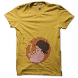 Tee shirt foetus Harry Potter jaune