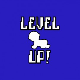 Tee shirt Bébé Level Up bleu