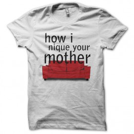 Tee shirt How I met your mother parodie blanc