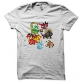 Tee shirt Dragon City blanc mixtes tous ages