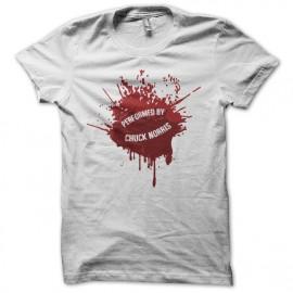Tee shirt Chuck Norris éclats de sang blanc