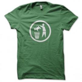 Tee shirt anti Chien poubelle à chien vert mixtes tous ages