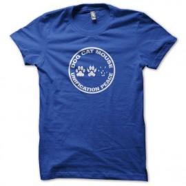 Tee shirt Dog Cat Mouse Unification Peace bleu mixtes tous ages
