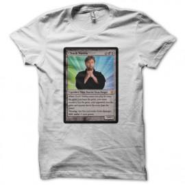 Tee shirt Magic Gathering parodie Chuck Norris blanc