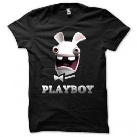 Tee shirt noir playboy mixtes tous ages