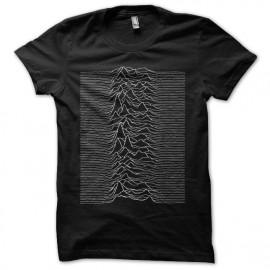 Tee shirt Joy Division Unknown Pleasures noir