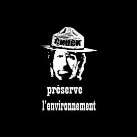 Tee shirt Chuck Norris préserve l'environnement noir