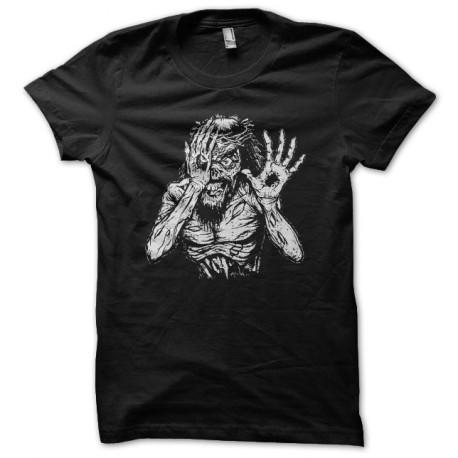 Tee shirt Jesus est un zombie noir