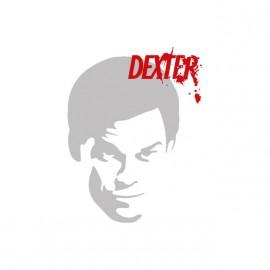 Tee shirt Dexter silhouette argentée sur blanc