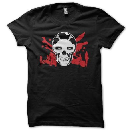 Tee shirt Psychomania motos filles et zombies noir