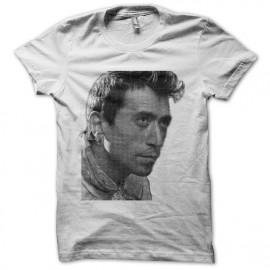 Tee shirt Luis Rego portrait en trame blanc mixtes tous ages