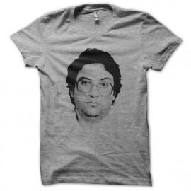 Tee shirt Kevin Mitnick portrait en trame gris mixtes tous ages