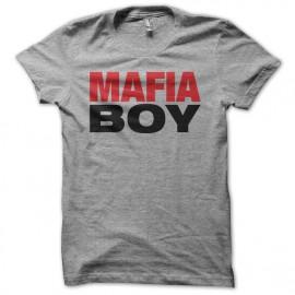 Tee shirt Mafiaboy hacking gris mixtes tous ages