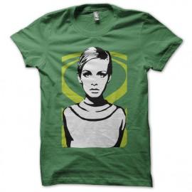 Tee shirt Twiggy Lawson portait pop art vert mixtes tous ages