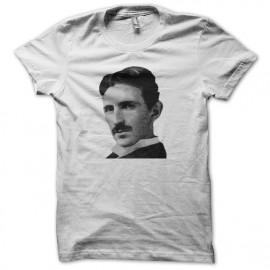 Tee shirt Nikola Tesla portrait blanc mixtes tous ages