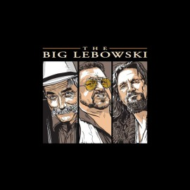 Tee shirt The Big Lebowski triptyque titre noir