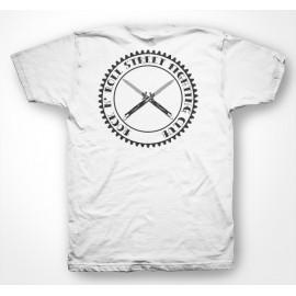 Rock N' Roll Street Fighting Club - Tee Shirt switchknife / cran d'arret White/Blanc