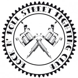 Rock N' Roll Street Fighting Club - Tee Shirt Tattoo machine / machine de tatouage White/Blanc