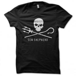 Tee shirt Sea Shepperd Paul Watson noir