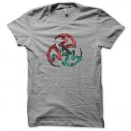 Tee shirt Vampire symbole 3 serpents gris