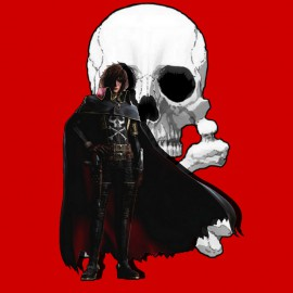 Albator.tete de mort.Rouge
