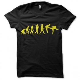 tee shirt noir evolution chuck norris pied dans la gueule