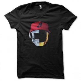 tee shirt noir daft punk pharrell williams nouveau logo