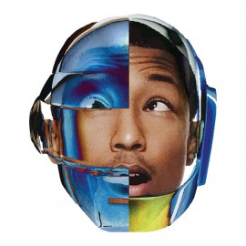 tee shirt pharrell williams avec le casque daft punk blanc