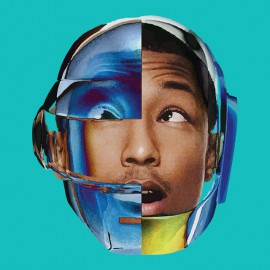 tee shirt pharrell williams avec le casque daft punk bleu ciel