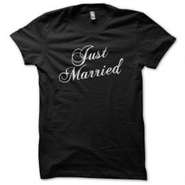 Tee Shirt Just Married Black