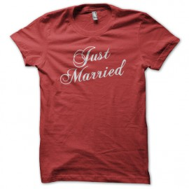 Tee Shirt Just Married Red