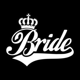 Tee Shirt Bride White on Black
