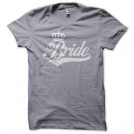 Tee Shirt Bride White on Grey