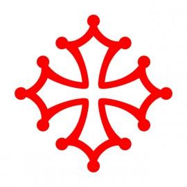 Tee Shirt Occitan Cross Red on White