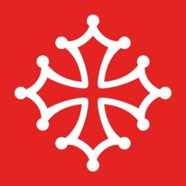 Tee Shirt Occitan Cross White on Red