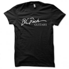 Tee Shirt BC Rich White on Black