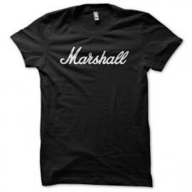 Tee Shirt Marshall White on Black