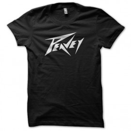 Tee Shirt Peavey White on Black