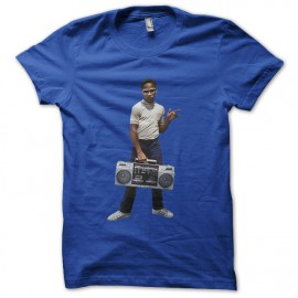 tee shirt kid guetto blaster bleu royal