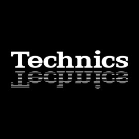 Tee Shirt Technics White on Black
