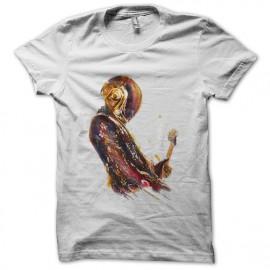 tee shirt daft punk artistique en blanc