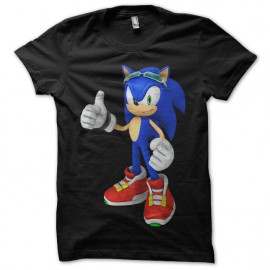 Tee Shirt Sonic Black