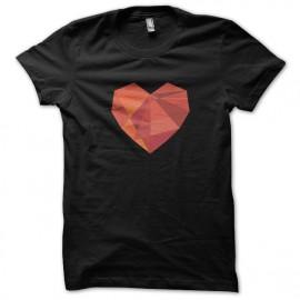 tee shirt heart noir