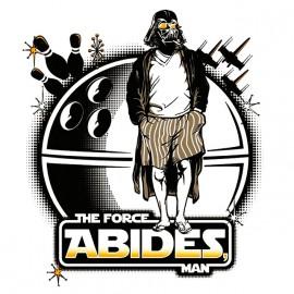 tee shirt star wars the force abides man blanc